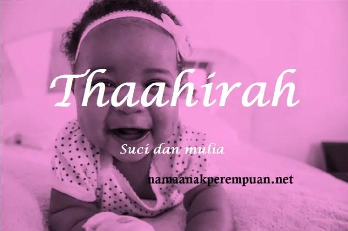 arti nama Thaahirah