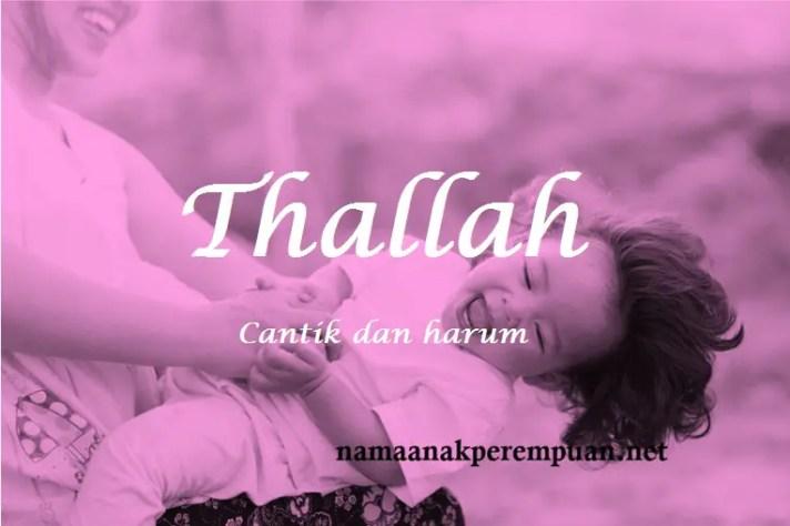 arti nama Thallah