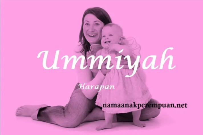 arti nama Ummiyah
