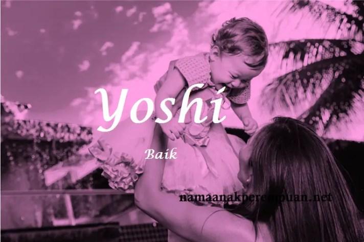 arti nama Yoshi