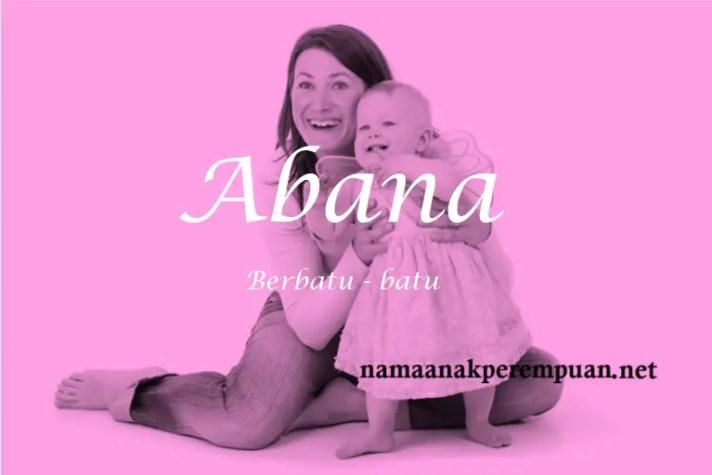 arti nama Abana