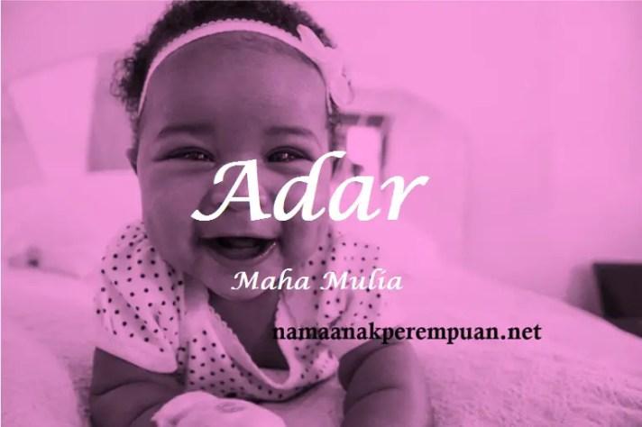 arti nama Adar