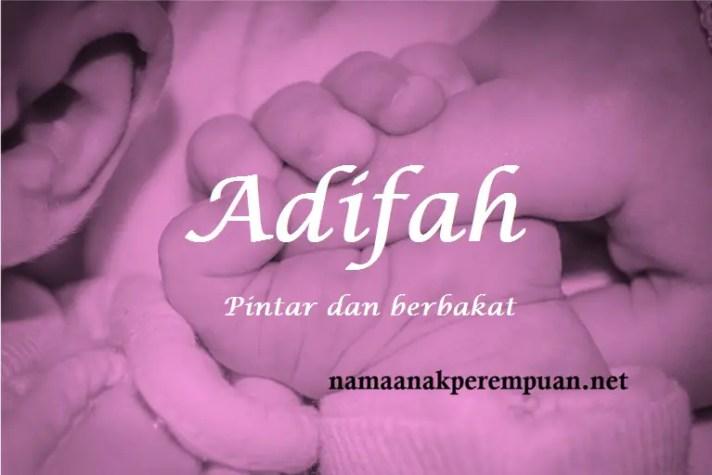 arti nama Adifah