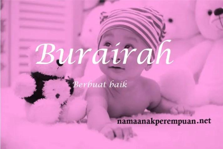 arti nama Burairah