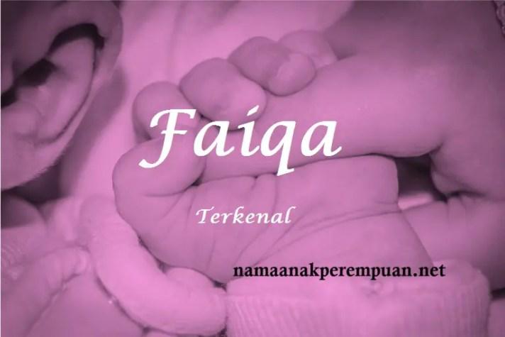 arti nama Faiqa