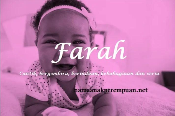 arti nama Farah