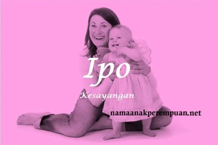 arti nama Ipo