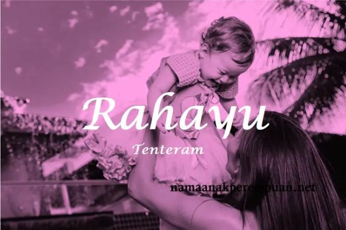 arti nama Rahayu
