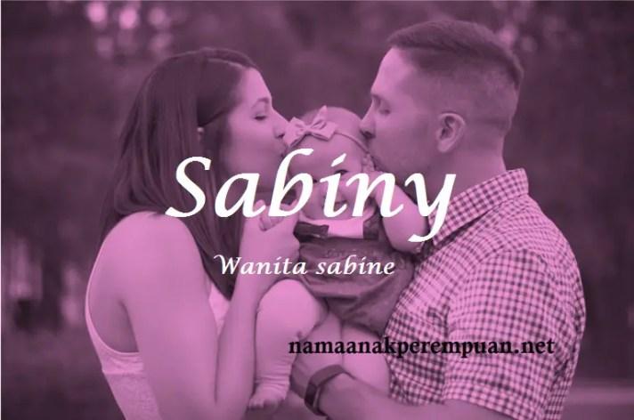 arti nama Sabiny