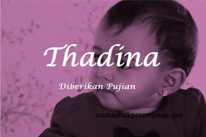arti nama Thadina