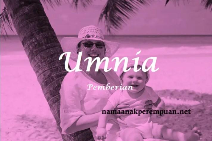 arti nama Umnia