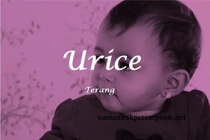 arti nama Urice