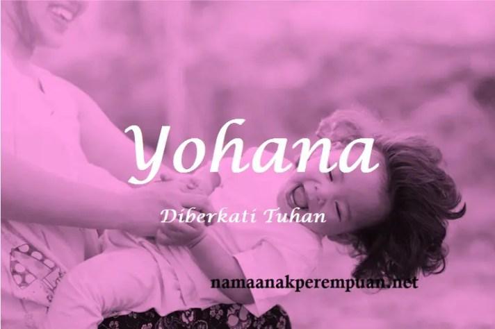 arti nama Yohana