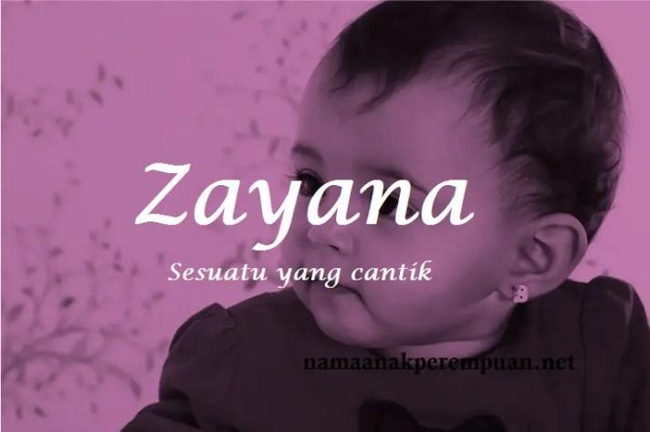 arti nama Zayana