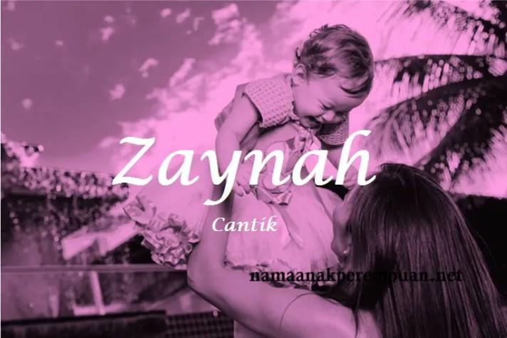 arti nama Zaynah