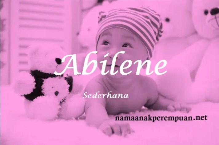 arti nama Abilene