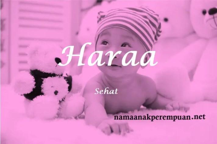 arti nama Haraa