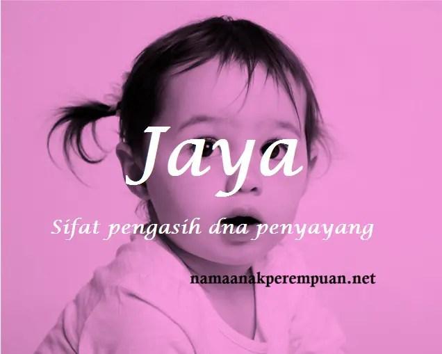 arti nama Jaya