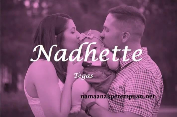 arti nama Nadhette