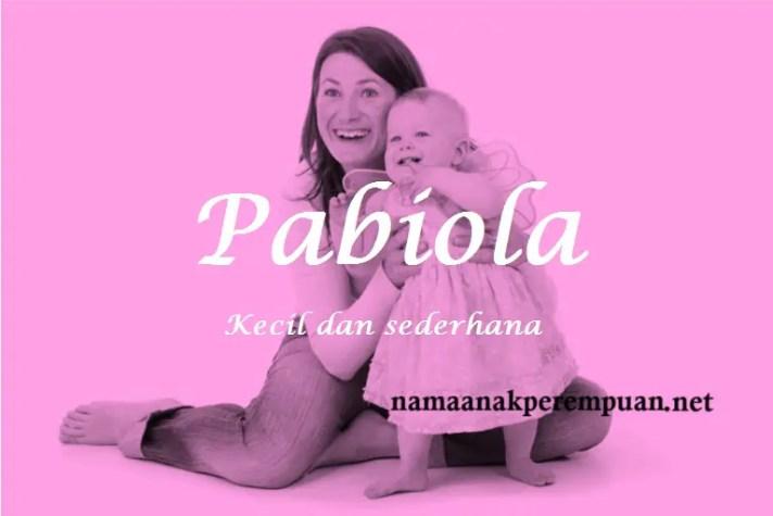 arti nama Pabiola