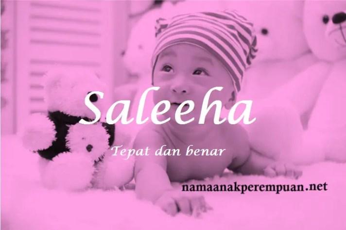 arti nama Saleeha