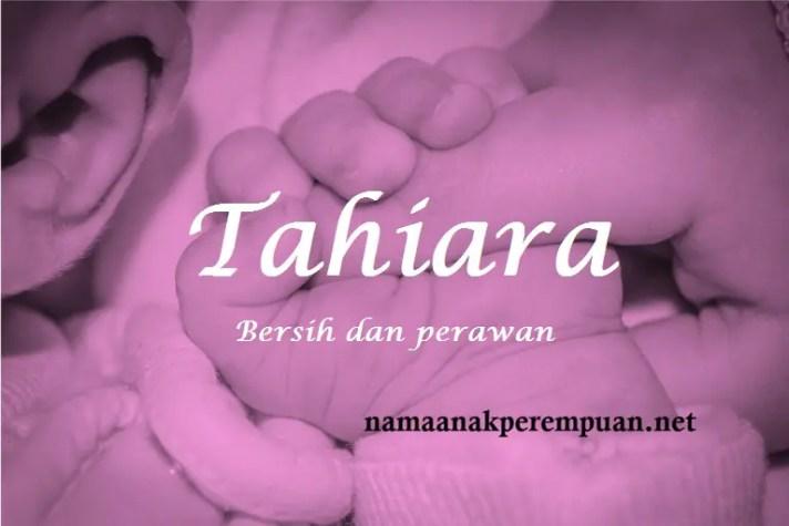 arti nama Tahiara
