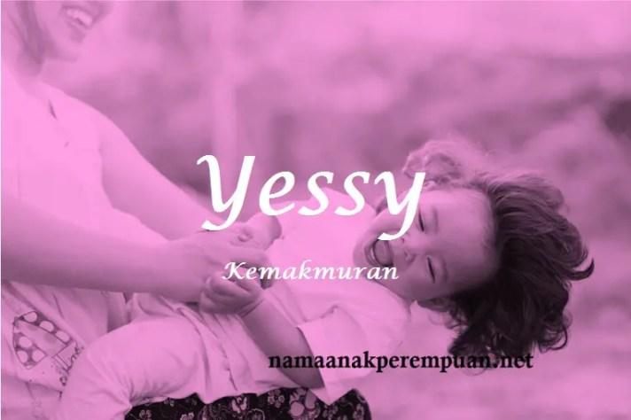 arti nama Yessy