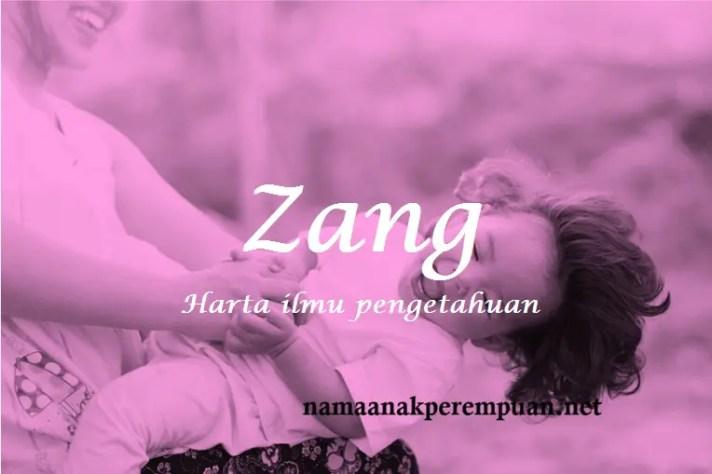 arti nama Zang