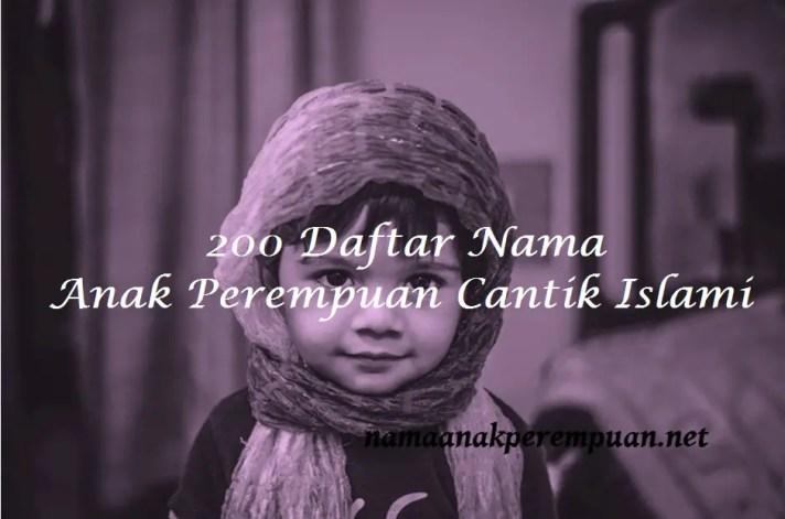 Nama Anak Perempuan Cantik Islami