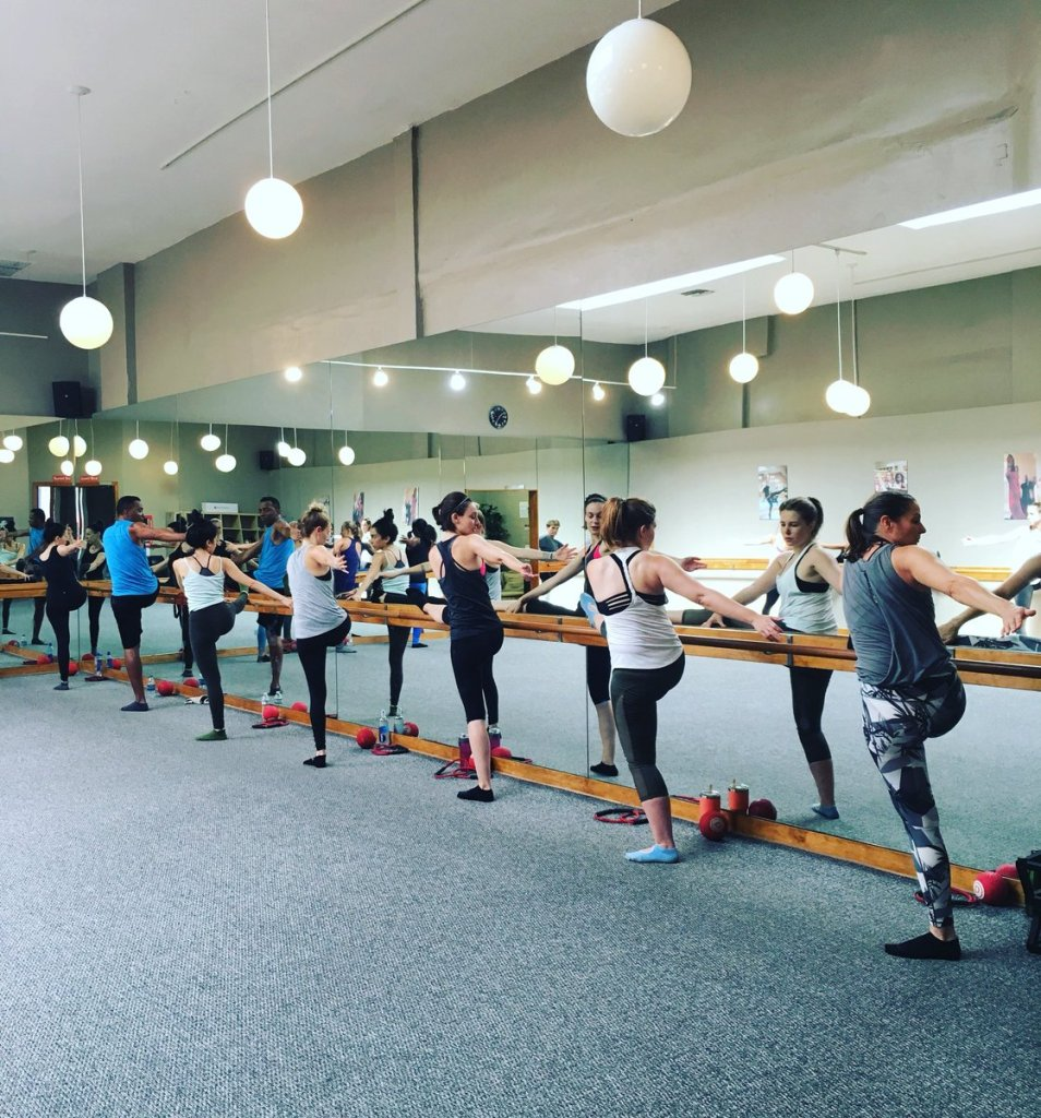 people in barre class in Hollywood