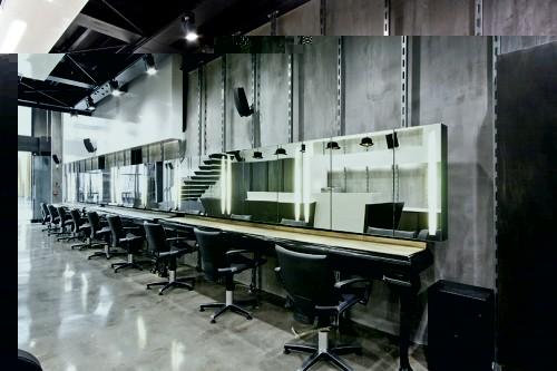 Futuristic Hair Dresser Salon Intuitive Interior