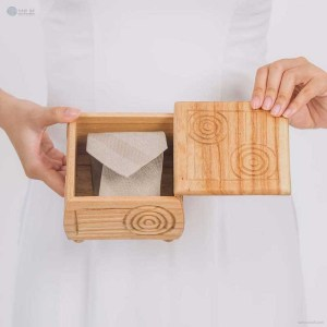 NA-hand-carved-square-shape-wooden-box-with-spiral-pattern