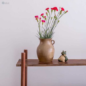 NA-matte-brown-ceramic-bottle-vase-with-braided-handle