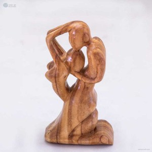 Passion - Wooden Handmade Abstract Sculpture - Gift Art Home Decor Figurine - Love Collection