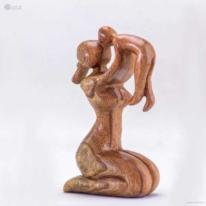 NA-cuddle-wooden-handmade-abstract-sculpture-gift-art-home-decor-figurine-family-collection