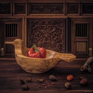 NA-hand-carved-duck-shape-tray-decorative-wooden-serving-tray