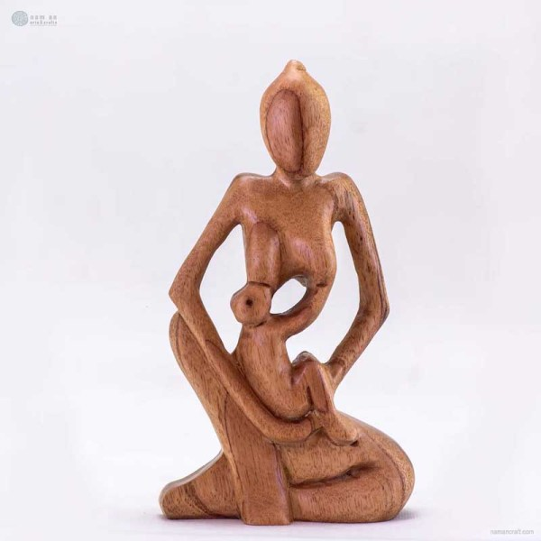 NA-motherhood-wooden-handmade-abstract-sculpture-gift-art-home-decor-figurine-family-collection