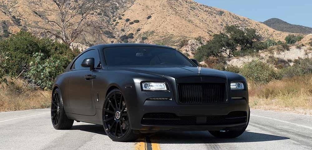 Porsche Panamera Coupe >> Matte black Rolls-Royce Wraith in Forgiato Wheels ...