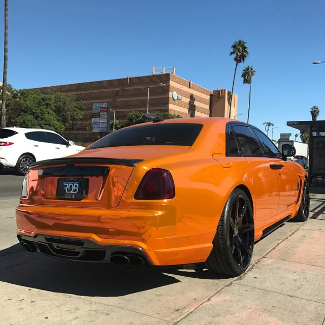 Rolls-Royce Ghost In Orange Chrome