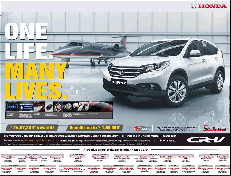 Benefits Of Rs 1 50 Lakh On Honda Cr V Now Starts At Rs 24 07