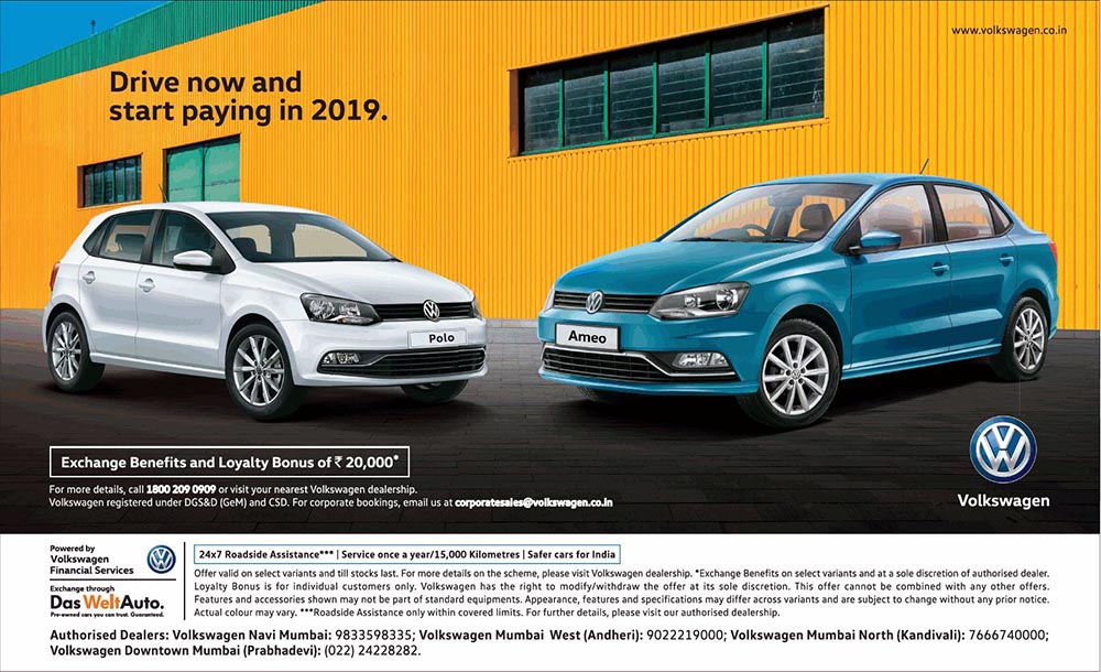 Buy Volkswagen Polo or Ameo now and start paying in 2019 - Namaste