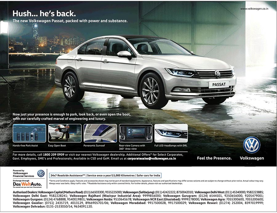 New Volkswagen Passat Is Packed With Power And Substance Namaste Car