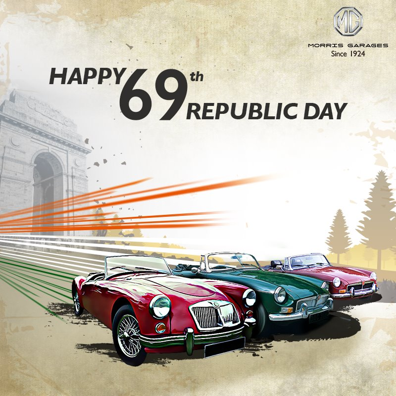Republic Day 2018: Greetings from car brands in India - Namaste Car