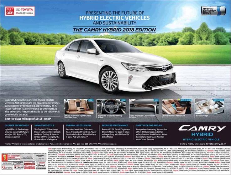 2018 Toyota Camry Hybrid Future Of Hybrid Electric Vehicles
