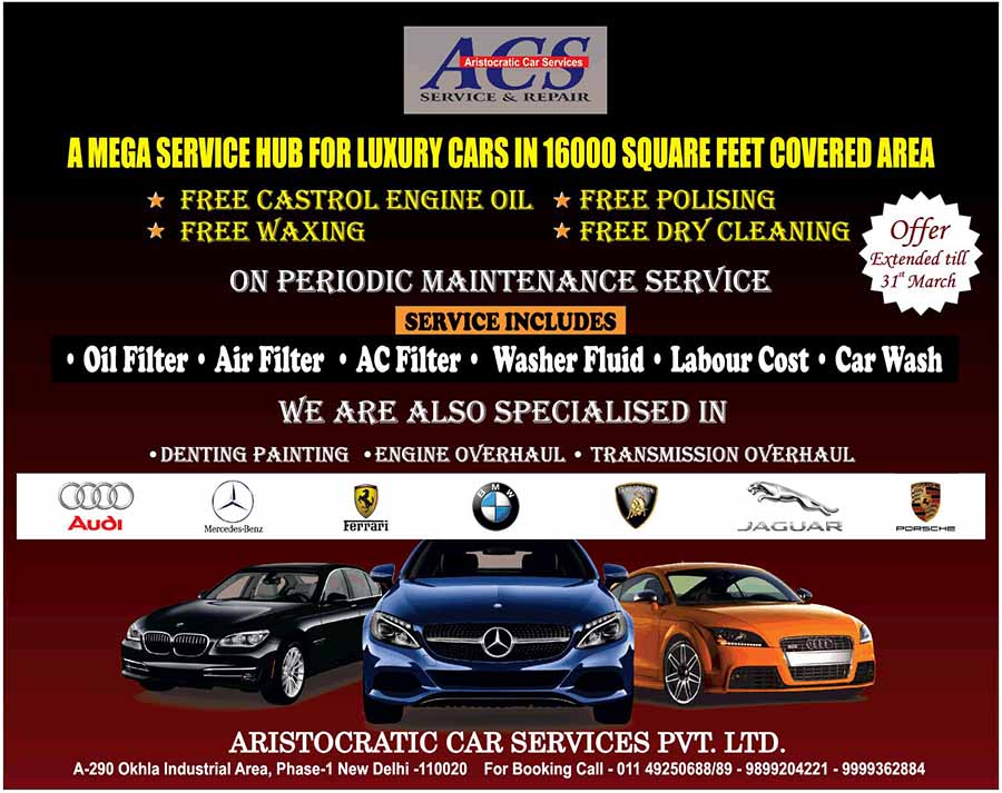 Aristocratic Car Services Workshop For Luxury Cars Launched In New