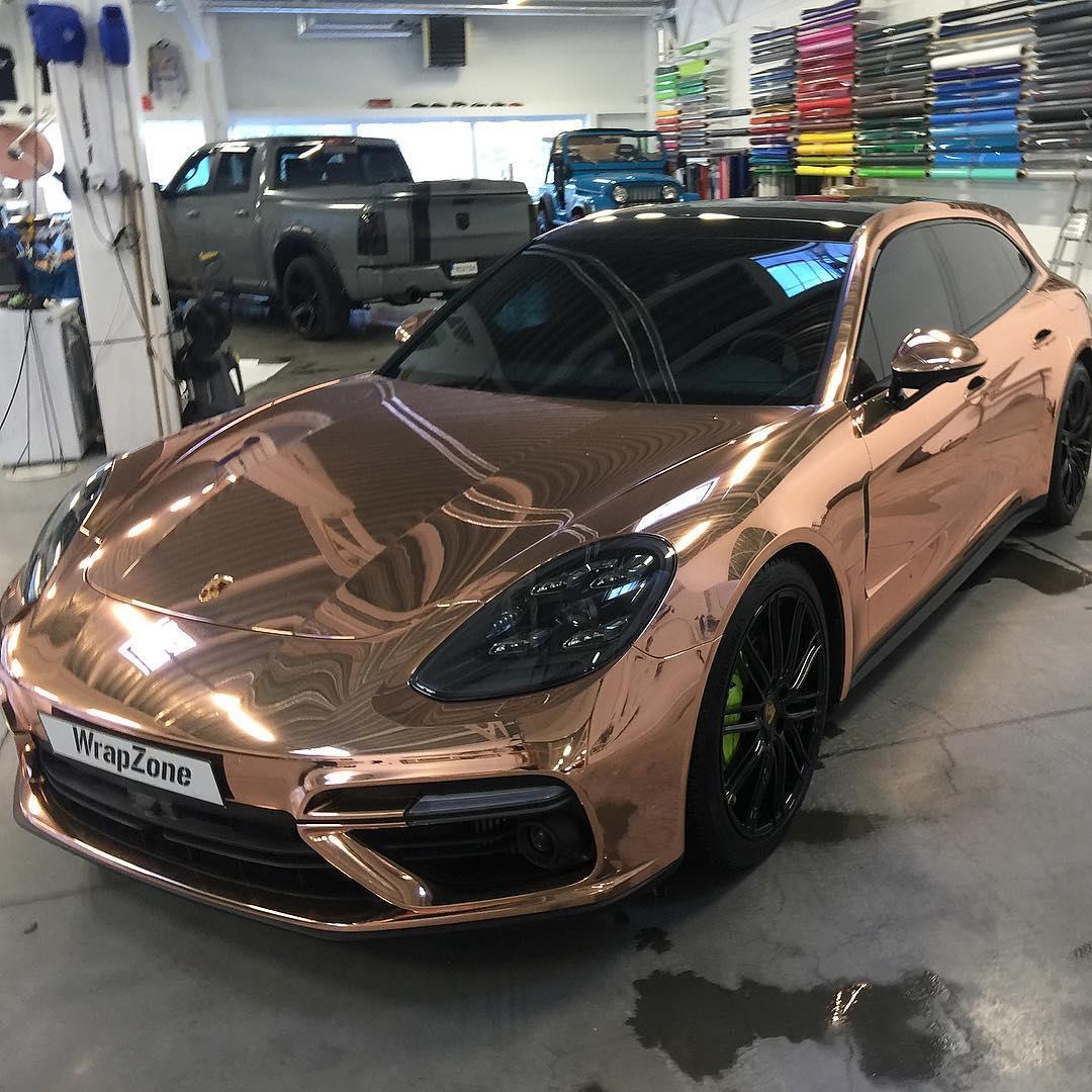 2019 Porsche Panamera Transmission: Porsche Panamera Turbo S E-Hybrid In Chrome Wrap