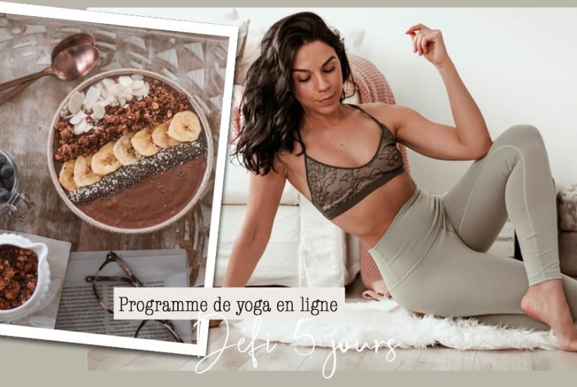 Programme de yoga- défi 5 jours - Namasté & Coco Latté