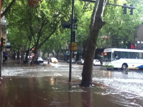 Streets can suddenly be flooded and turn into rivers