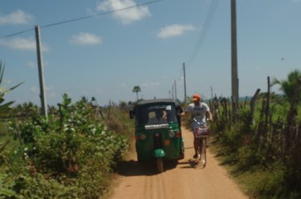 Tuk-Tuks are even in the countryside