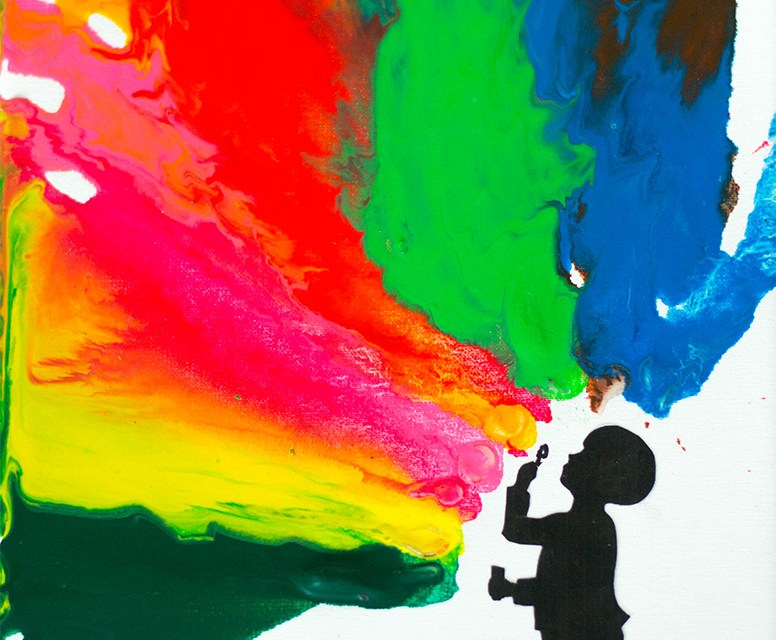 A Colourful Canvas – Melted Crayon Art with Kids